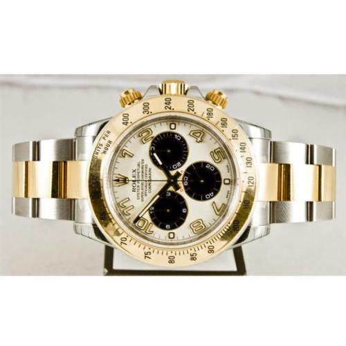 New Rolex Daytona Model 116523 Stainless Steel & 18k Gold Watch Panda Dial