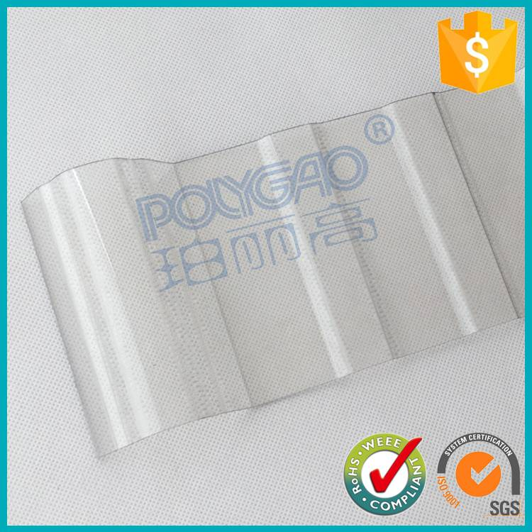 PC transparent polycarbonate corrugated plastic roofing sheet for roofing