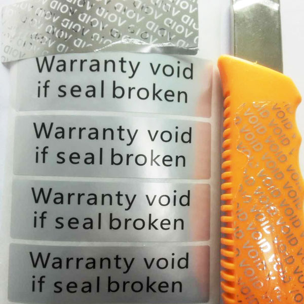 OEM factory supply VOID label stickers