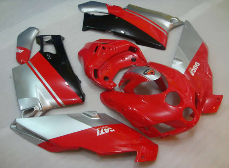 Ducati 749 / 999 Classical Red and Sliver Fairings Bodyworks