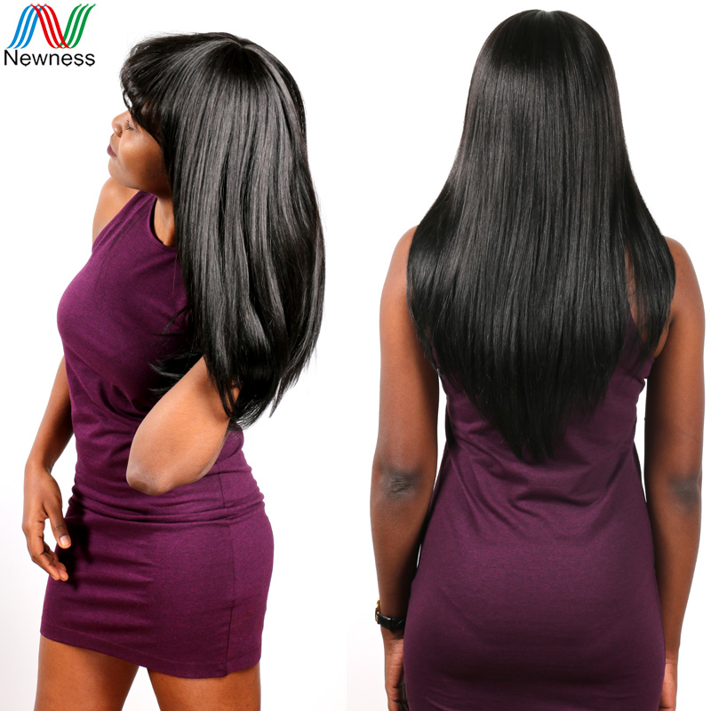 Brazilian Virgin Hair Straight 100% Unprocessed Black Straight Human Hair Extensions Peruvian Hair