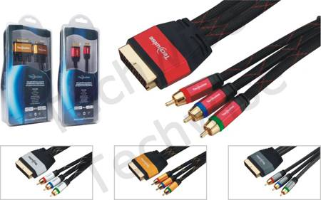 Multimedia Cable 3RCA Male-Scart male cable