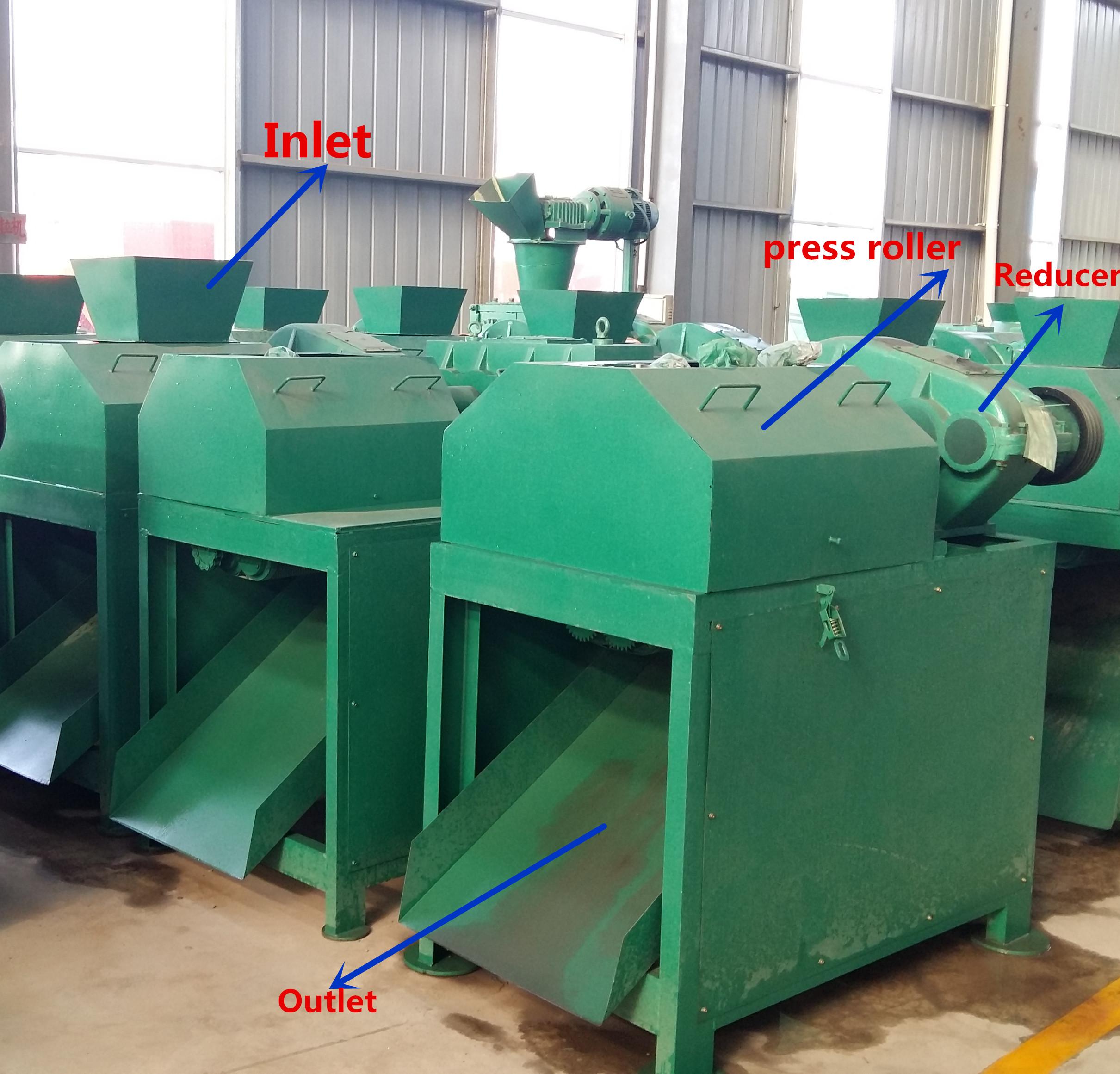 Fertilizer granule making machine twin roller press granulator