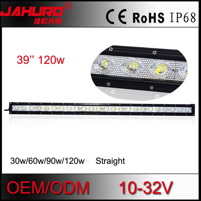 single row 120w led offroad light bar, aluminum offroad led light bar 39 inch