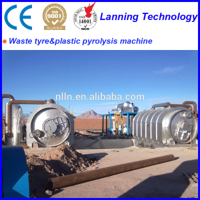Scrap tire pyrolysis plant/waste tire recycling machine/used plastic recycling plant