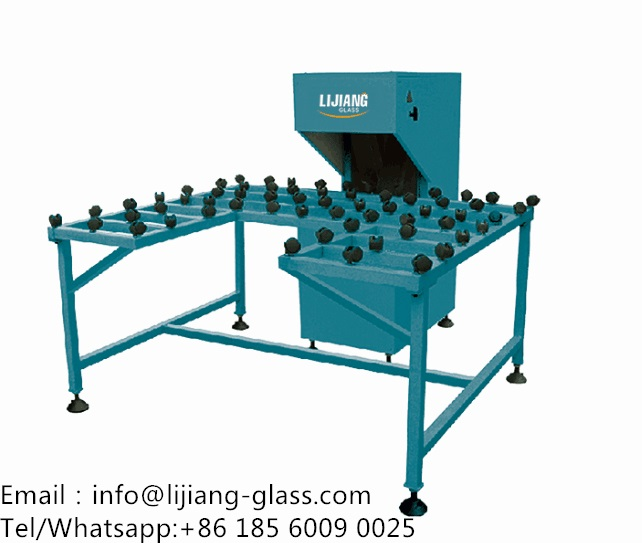 Glass edge polishing machine of insulating glass machine