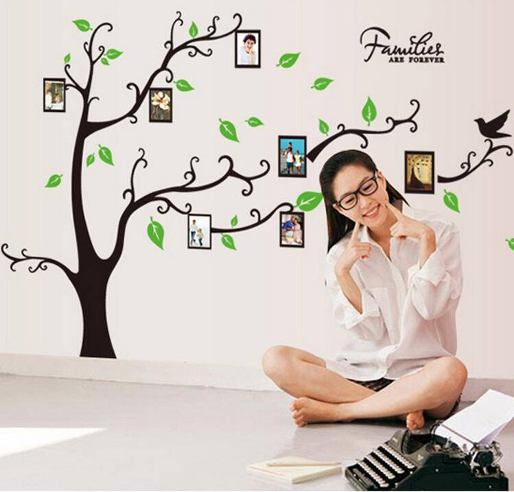 DIY Family Tree Wall Stickers Photo Frame Wall Decal 3D Vinyl Photo Album Removable Home Decor Wall