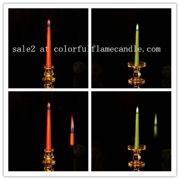 Colored flame candle with taper shape manufacturer