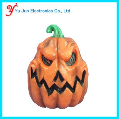 Animated halloween recording pumpkin