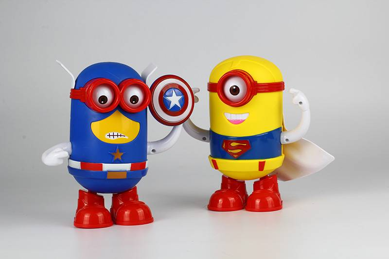 plastic battery power dancing minion with light and music