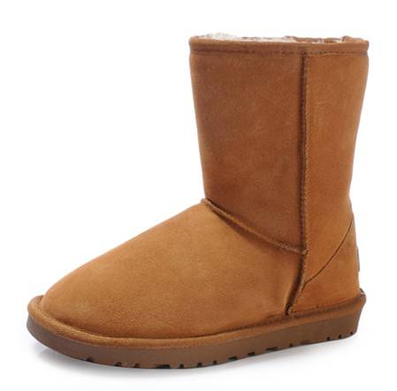 snow boots 5825 knee-high genuine leather cowhide thermal boots cow muscle outsole classic