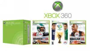 XBox 360 Core Sports Bundle w/3 games - Free Shipping