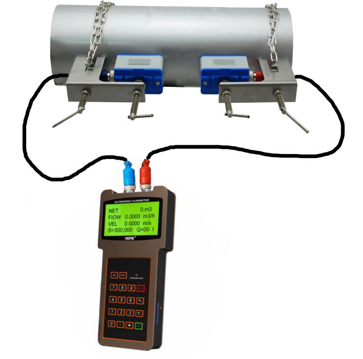 Handheld Portable Ultrasonic Flow Meter