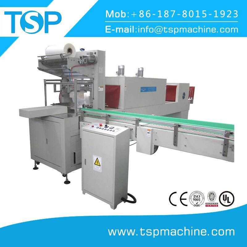 wd-tsp-150a pe/pvc film thermal shrink wrapping packaging machine with steam tunnel