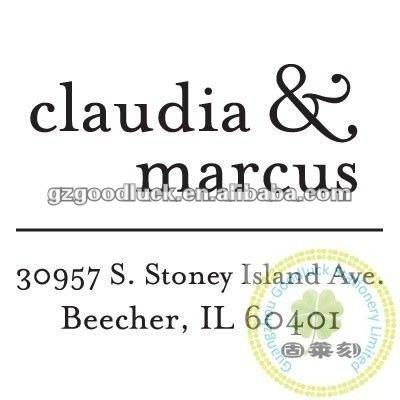 Custom address stamp according to your designs