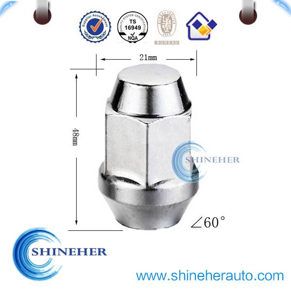 Grade 8 lug nut with TS-16949