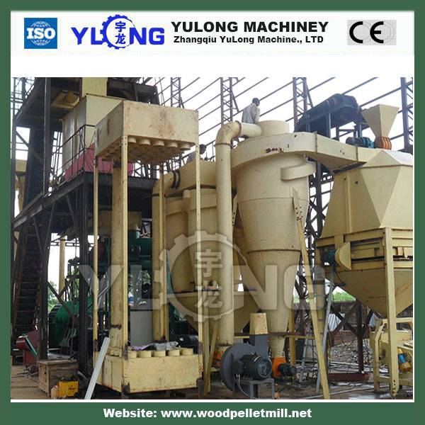 2T/h full set wood pellet making machine line