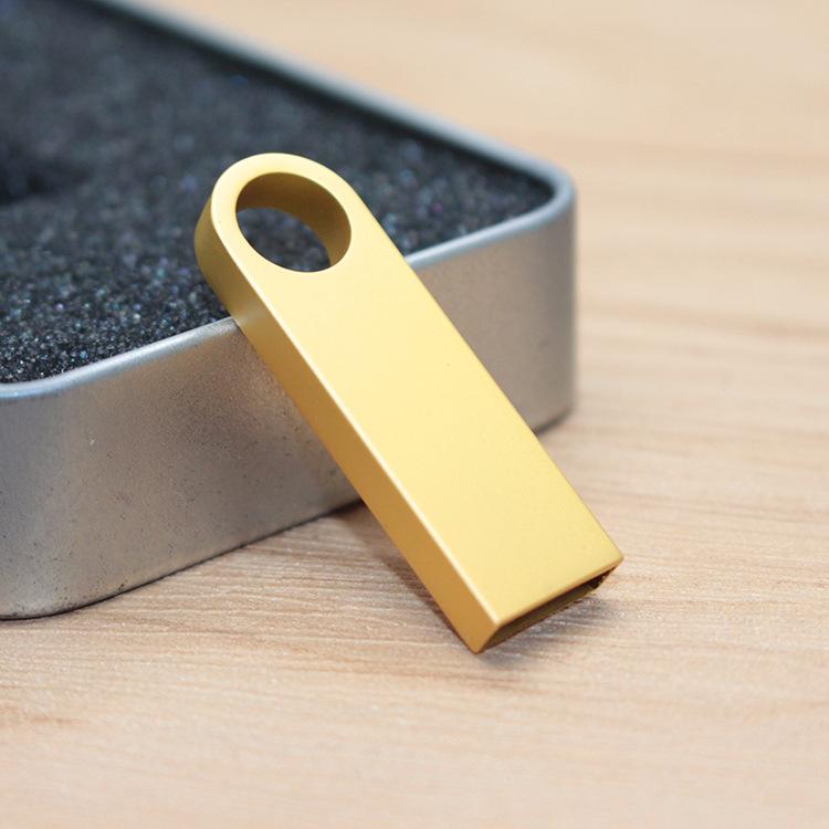 CaraUSB mini gold metal usb flash drives 8GB pendrive golden SE9 brand gifts