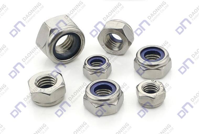 ASME/ANSI B18.2.2; DIN985, DIN982, ISO7042 Nylon Insert Lock Nuts