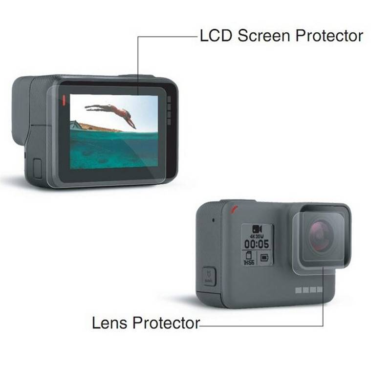 Lens and Screen Protector Film For Gopro Hero 5