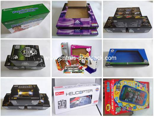 Custom Design PVC Window Cardboard Toy Packaging Box