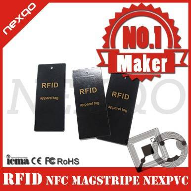 Customized material and size rfid apparel card