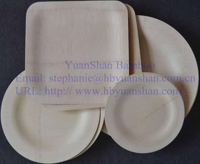 Bamboo disposable tableware