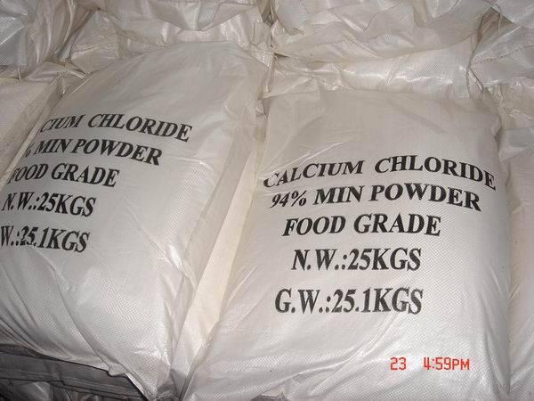 calcium chloride 94% powder food grade