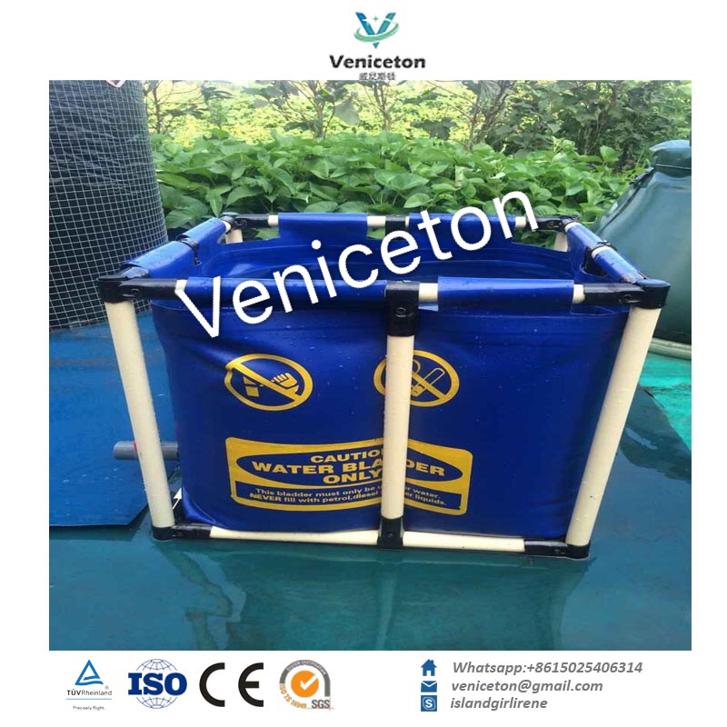 Veniceton Rectangular Fish Farming Tank, Custom Foldable Fish Tank