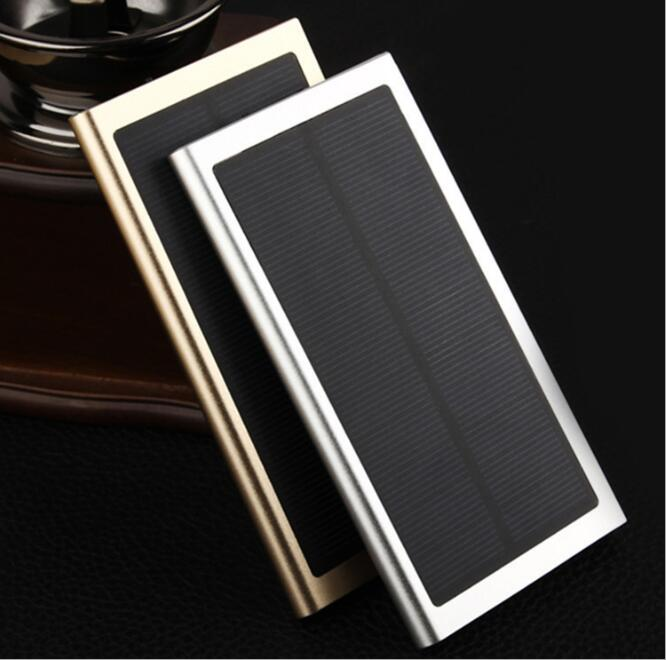 Slim book shape solar power bank 10000mah portable battery charger