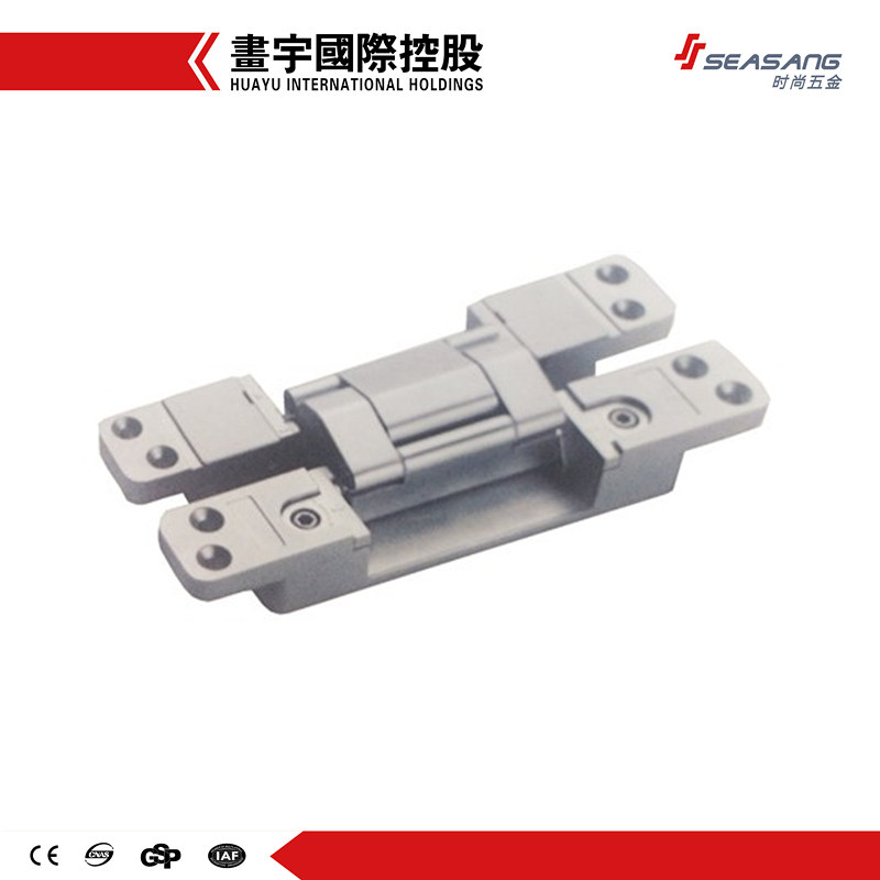 Zinc alloy 3D adjustable invisible concealed door hinge hidden hinges for wood, steel, swing doors