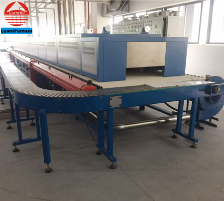 1400.C High temperature roller kiln in industrial