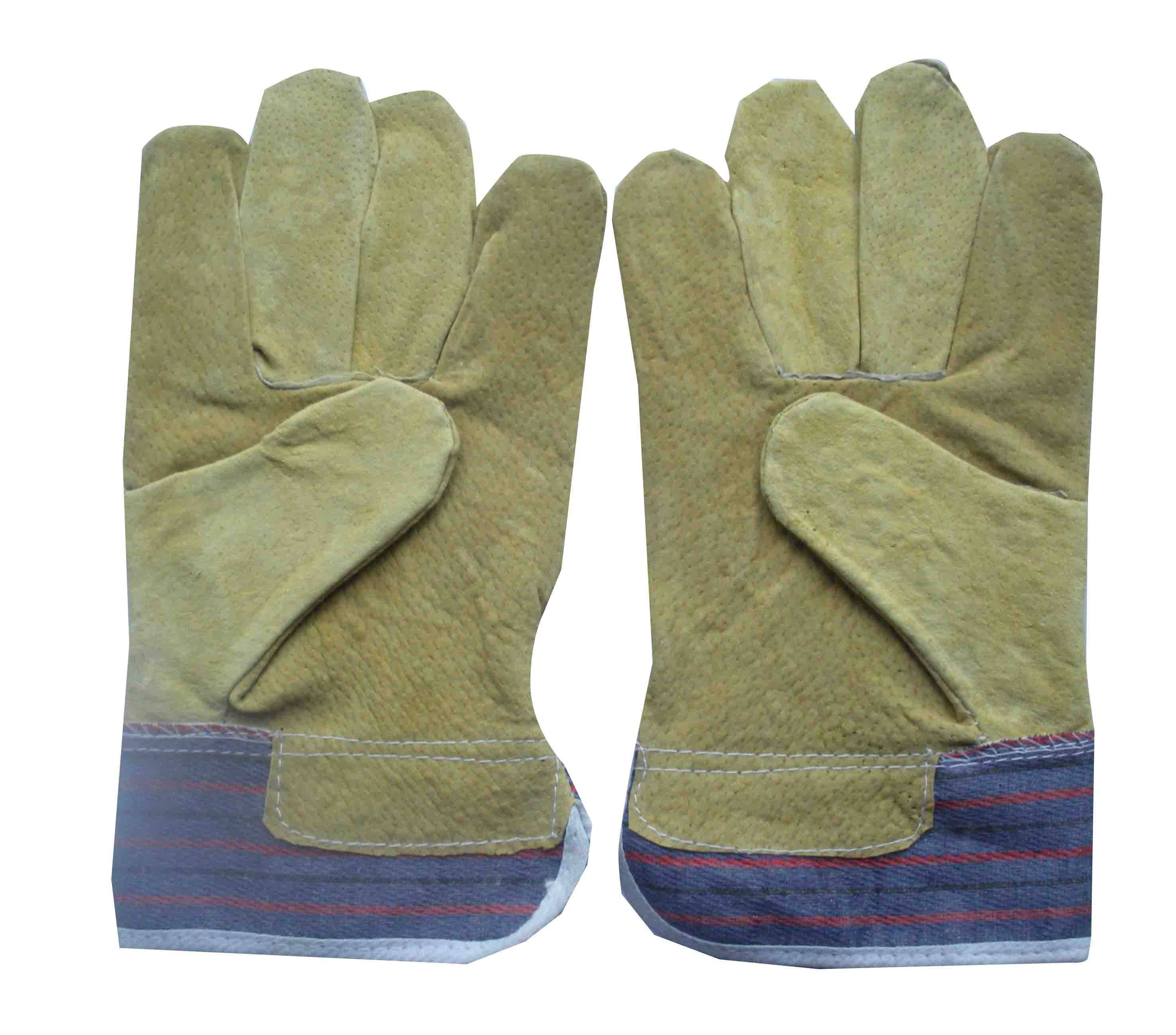 Comfortable pig grain leather gloves