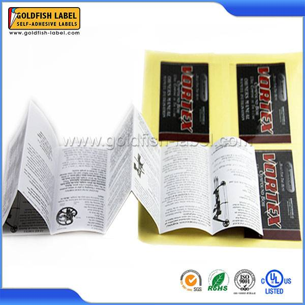 Printing booklet label