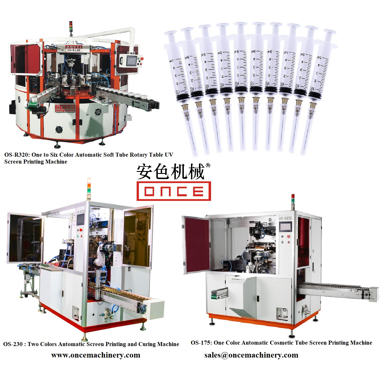 Huayu Automation Manufacture Automatic Screen Printing Machines for Syringe