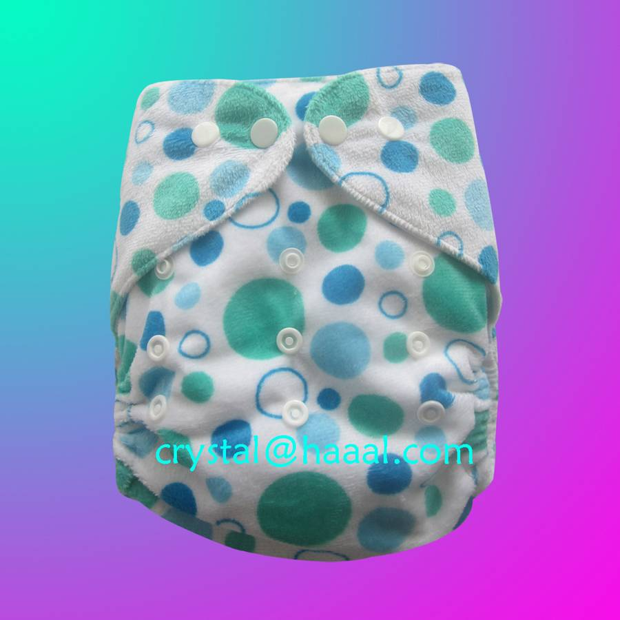 Beautiful PUL baby Minky cloth diaper all in one size