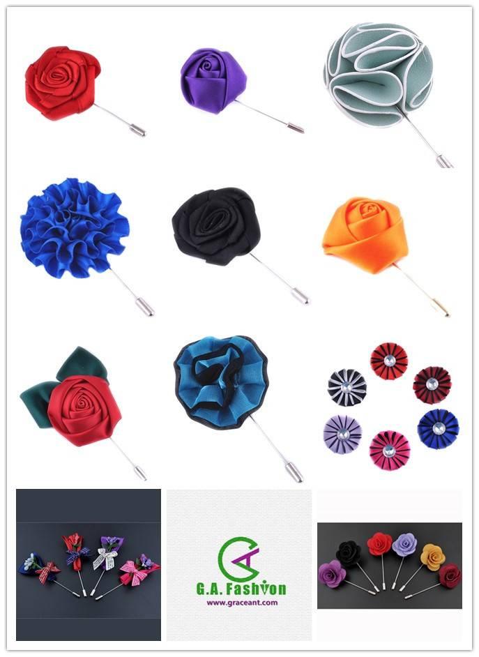 Men's Flower Lapel Pin Wedding Suit Fashion Corage Boutonniere Stick