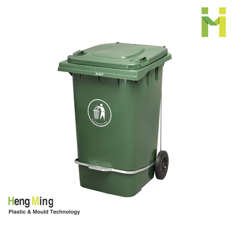 240L outdoor pedal plastic waste bin