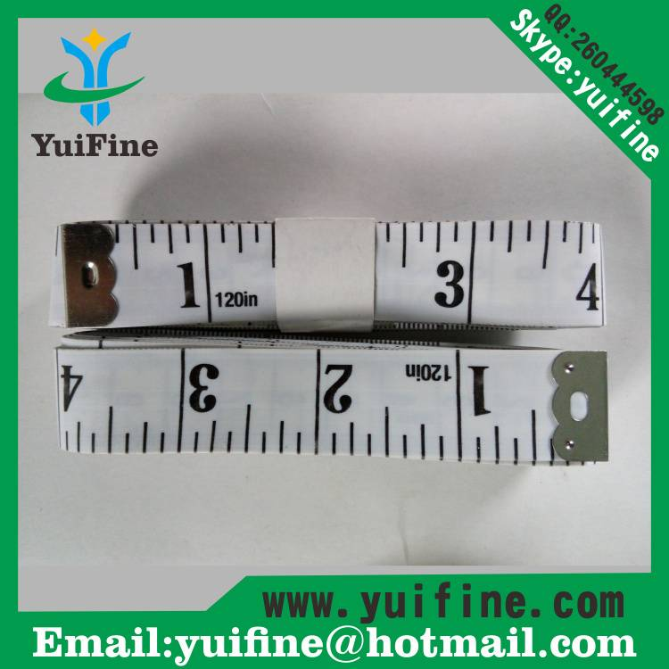white! 3m/120inch Soft PVC Measuring Tape/300cm*2cm Long Tap Measure for Promotion Gift Tool