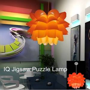 Round Lotus Shape iq puzzle Pendant light