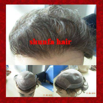 Top quality remy hair toupee