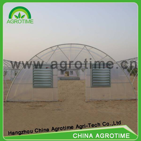 Agrotime low cost greenhouse used with cooling system for Middle East