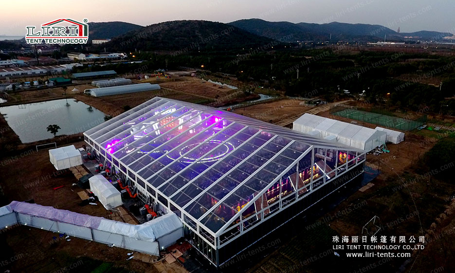 5000 People Clear Party Tent with Clear Roof Top for Parties