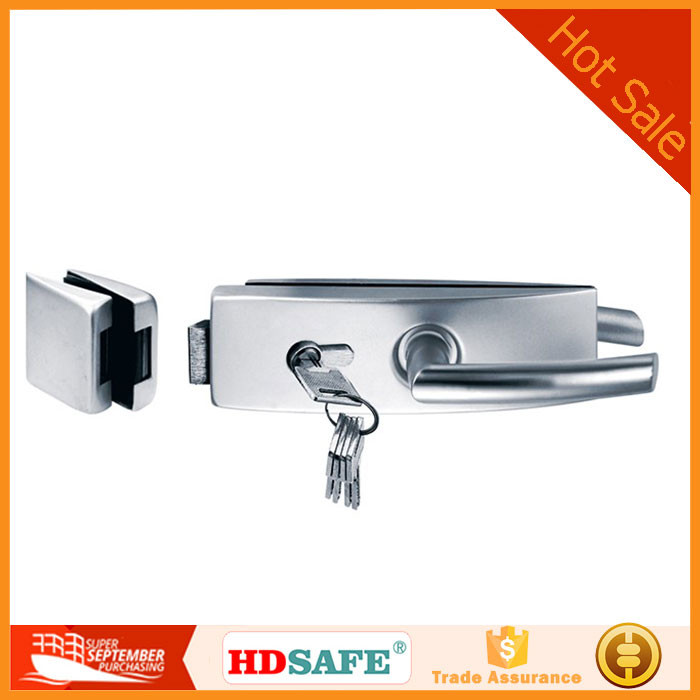 High quality popular new design glass fittings stainless steel sliding door lock