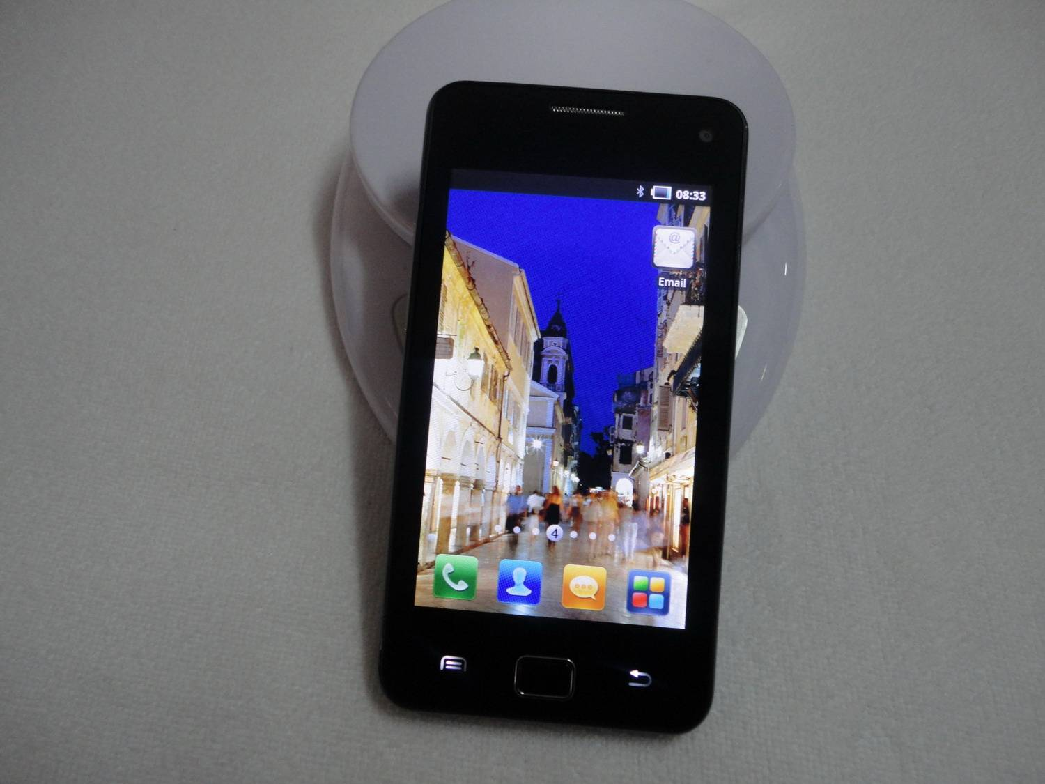 "Android 2.3.5 3G MTK6573 WIFI 4.0""Capacitive Touchscreen GPS Dual Sim card Phone I9220"