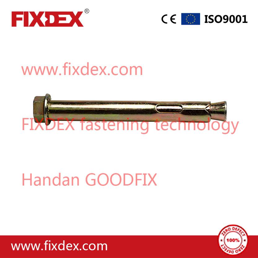 HEX bolt sleeve anchor with hexagon head expansion bolt zinc plated