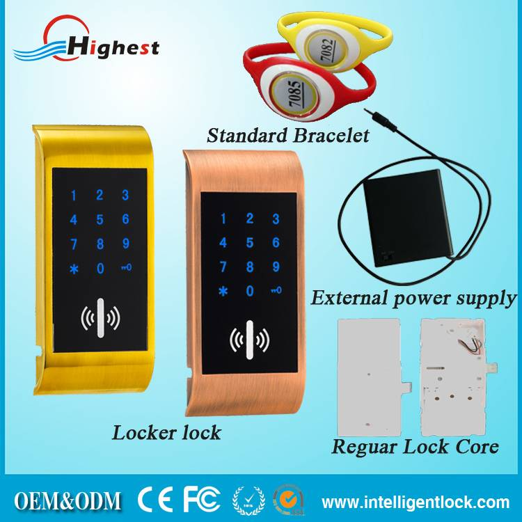 Waterproof Cabinet Electrical Smart combination lock for lockers with RF card