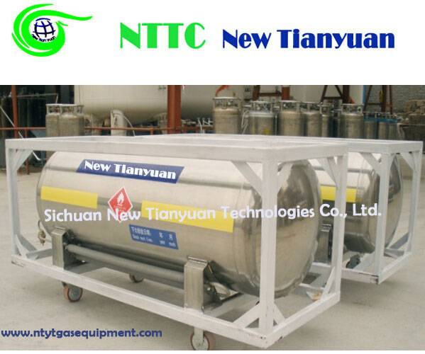 High Vacuum Cryogenic LNG Cylinder with 480L Nominal Capacity for Heavy Trucks or Buses