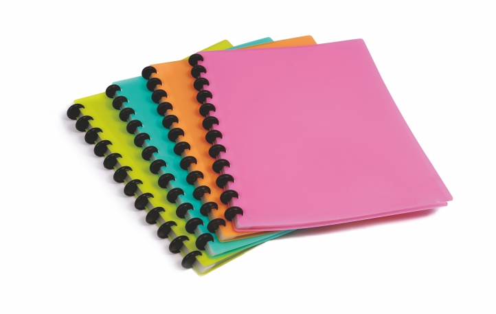 Display book with various color and size