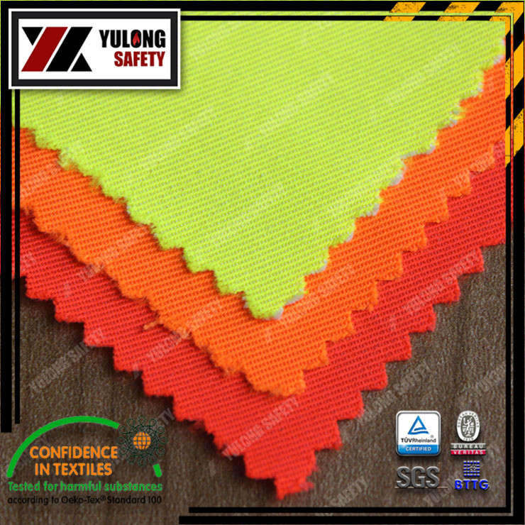 Xinxiang Yulong Textile co.,Ltd T/C HI-VIS fabric high visibility workwear